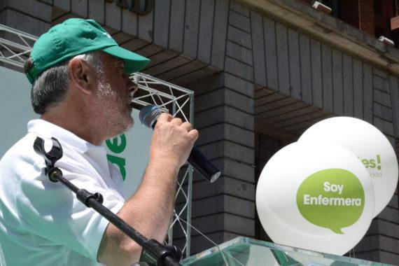 Víctor Aznar lidera las movilizaciones de Enfermería